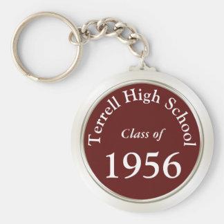 High School Reunion Souvenirs Customizable Basic Round Button Key Ring