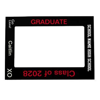 High School Senior Grad Vertical Black Photo Frame