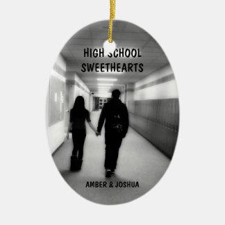 High School Sweethearts Ceramic Oval Decoration