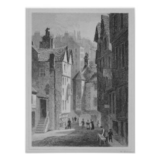 High School, Wynd, Edinburgh engraved by Poster