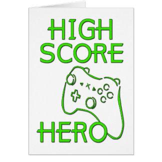 High Score Hero Card
