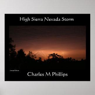 High Sierra Nevada Storm Poster
