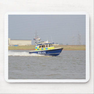 High Speed Police Boat Mouse Pad