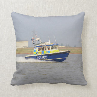 High Speed Police Boat - Pillow Cushions