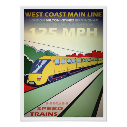 High Speed Train poster art/print