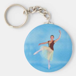 High Stepping Ballerina Basic Round Button Key Ring