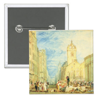 High Street, Edinburgh, c.1818 (w/c, pen, ink, gra 15 Cm Square Badge