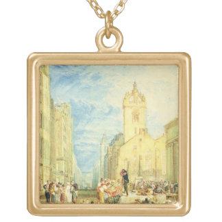High Street, Edinburgh, c.1818 (w/c, pen, ink, gra Jewelry