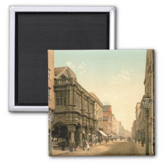 High Street, Exeter, Devon, England Square Magnet