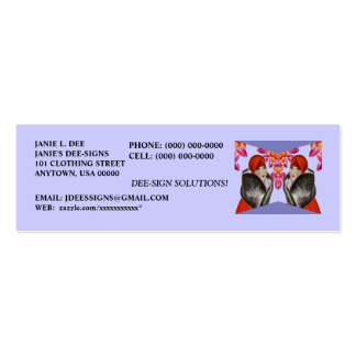 HIGH STYLE LADIES-FASHION, TAILORS PROFILE CARDS PACK OF SKINNY BUSINESS CARDS