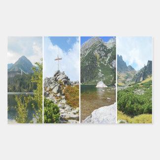 High Tatra mountains collage Rectangular Sticker