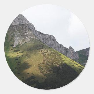 High Tatra Mountains in Slovakia Classic Round Sticker