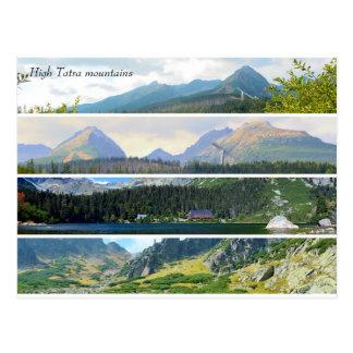 High Tatra mountains postcard