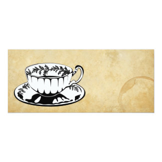 """High Tea/Afternoon Tea invite 4"""" X 9.25"""" Invitation Card"""