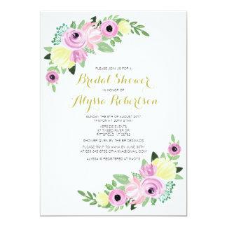 High Tea Bridal Showers Floral Romantic Card