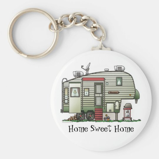 High Tech 5th Wheel Camper Keychain HSH