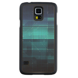 High tech background carved maple galaxy s5 case