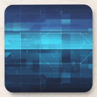 High tech digital background coaster