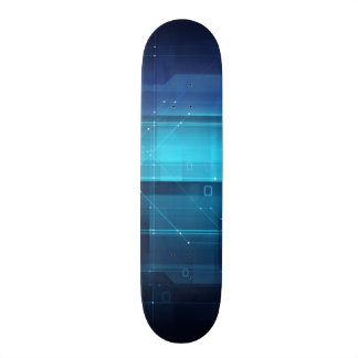 High tech digital background skate board