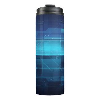 High tech digital background thermal tumbler