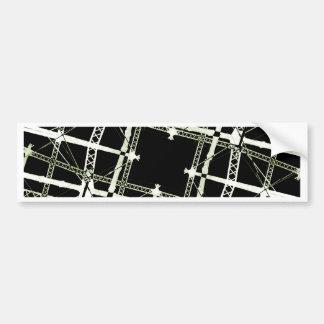 High Tech Grid Bumper Sticker
