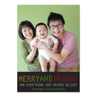 High Tech Holiday Photo Card 13 Cm X 18 Cm Invitation Card