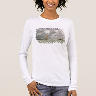 High Tide at Trouville, c.1892-96 (oil on panel) Long Sleeve T-Shirt