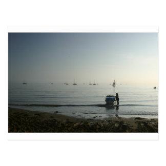 High tide, early dawn postcards