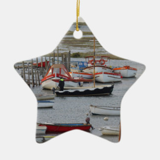 High tide, Morston, Norfolk Christmas Ornament