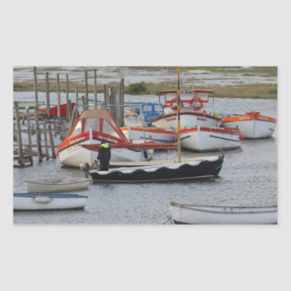High tide, Morston, Norfolk Rectangular Sticker