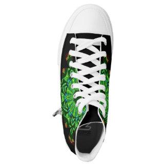 High Top Shoe Art Printed Shoes