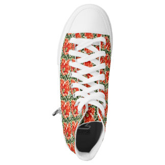 High top shoe red poppy footware
