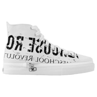 High Top Shoes (Black Print)
