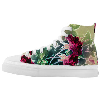 """High Top Shoes by VonHolm Design """"Nature"""" Printed Shoes"""