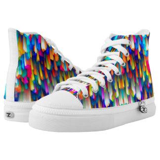 High Top Shoes Colorful digital art splashing