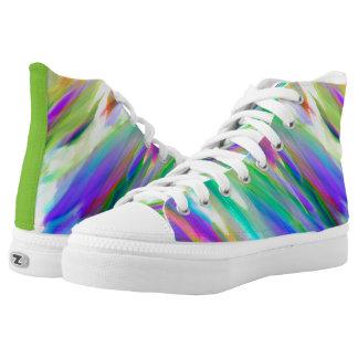 High Top Shoes Colorful digital art splashing Printed Shoes