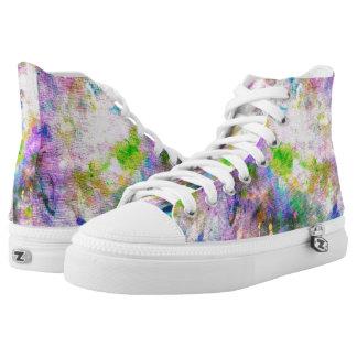 High Top Shoes Colour Splash