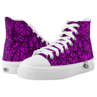 High Top Shoes Grunge Art Abstract
