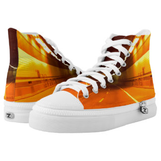 High Top Shoes PHOTOGRAPH OF TUNNEL 3 Printed Shoes