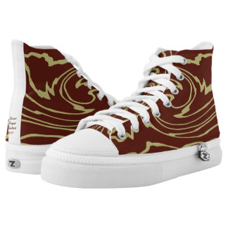 High Top Shoes with Ultra Modern Design. Printed Shoes