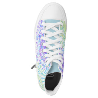High-Top Sneakers, colorful mandalas