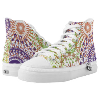 High top sneakers mandalas colorful