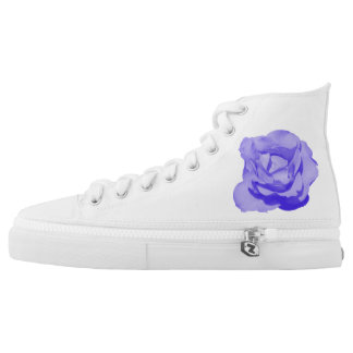 High top sneakers purple rose