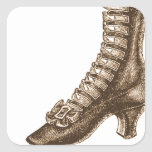High Topped Victorian Shoe Square Sticker