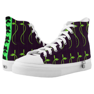 High Tops for a Cool Doc - Staff of Asclepius Printed Shoes