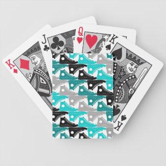 High Tops Teal-n-Black Shoes Card Deck