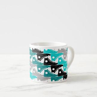 High Tops Teal-n-Black Shoes Espresso Mug