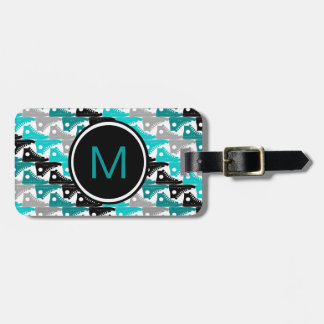 High Tops Teal-n-Black Shoes Luggage Tag