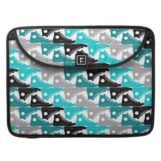 High Tops Teal-n-Black Shoes Sleeve For MacBooks