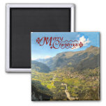High valley in the alps refrigerator magnet